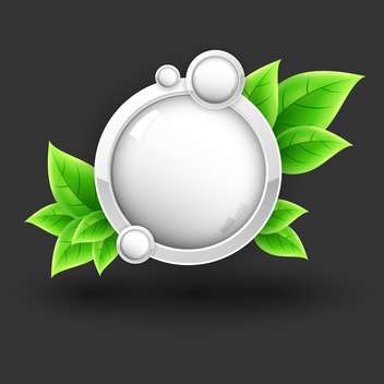 Eco vector icon with leaves on black background - vector gratuit #131273