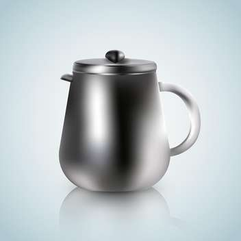 kettle illustration on a white blue background - vector gratuit #131293