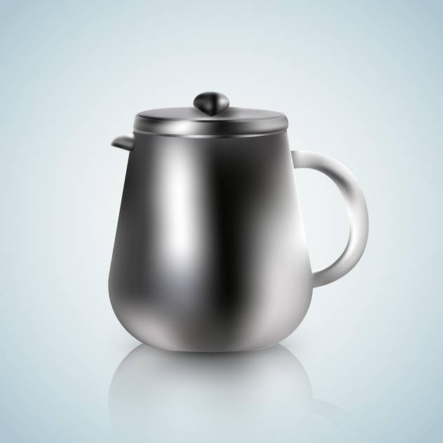 kettle illustration on a white blue background - Free vector #131293