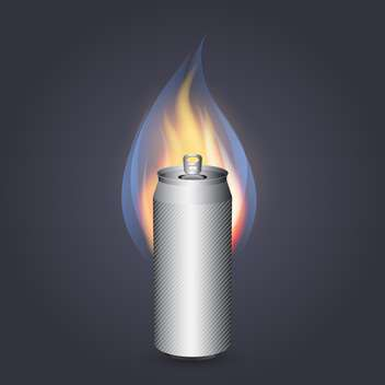 Burning energy drink vector illustration - vector gratuit #131303