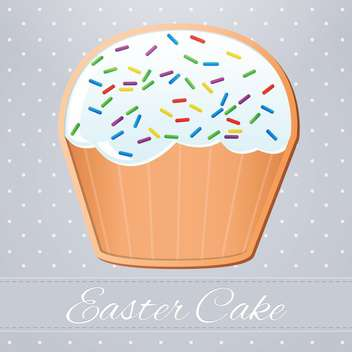 Cute Easter cake vector illustration - Free vector #131403