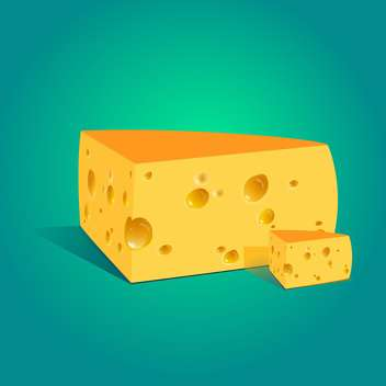Vector illustration of a piece of cheese - бесплатный vector #131433