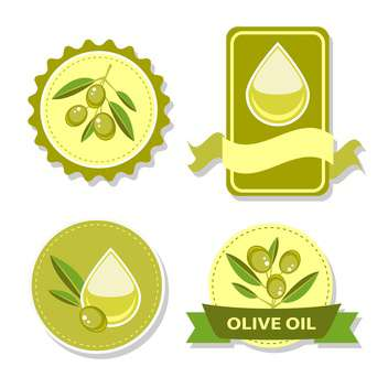 Icon of vector olive oil labels on white background - vector gratuit #131453