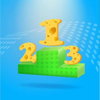 Victory podium with places made of cheese - vector gratuit #131503
