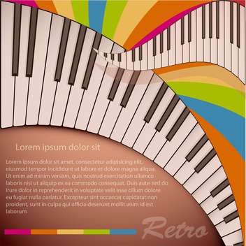 Musical background with piano keyboard - vector gratuit #131513