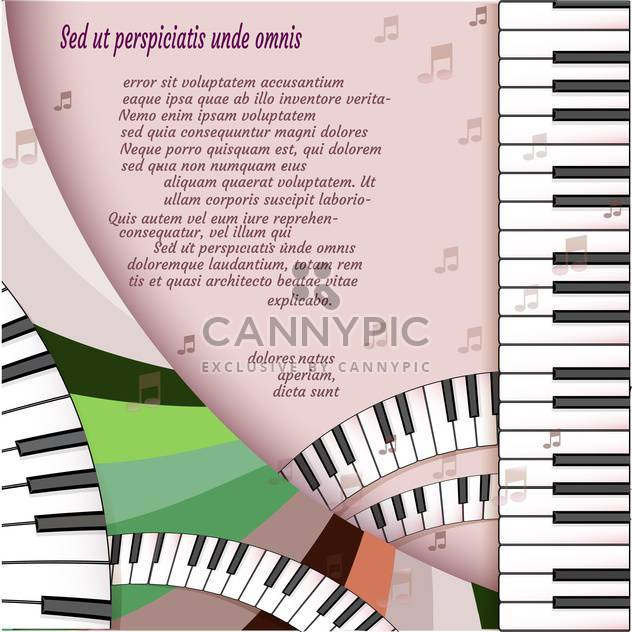 Musical background with piano keyboard - Free vector #131543