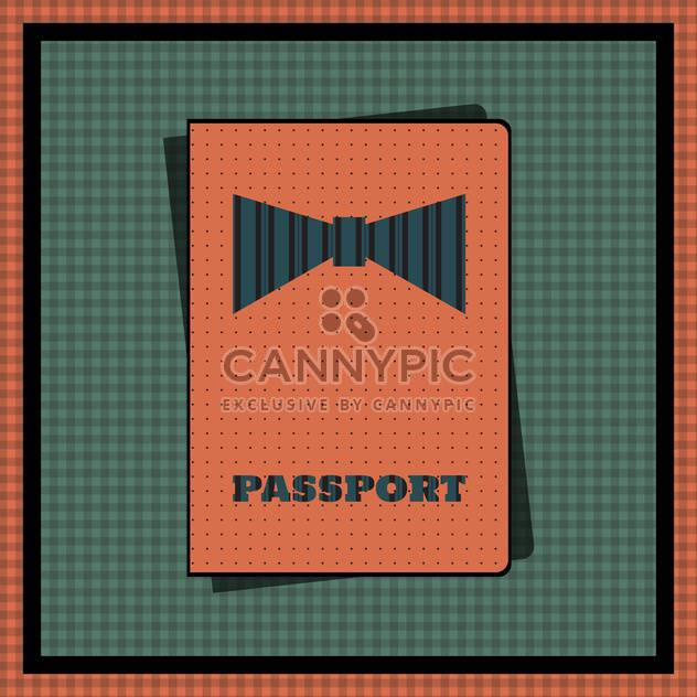 Passport cover vector illustration - Free vector #131573