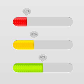 Vector loading bars on grey background - Free vector #131583