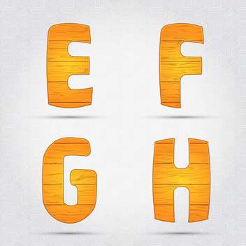 Wooden vector font on white background - vector gratuit #131653