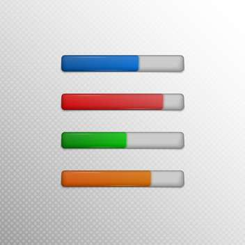 Vector colorful loading bars on grey background - vector gratuit #131673