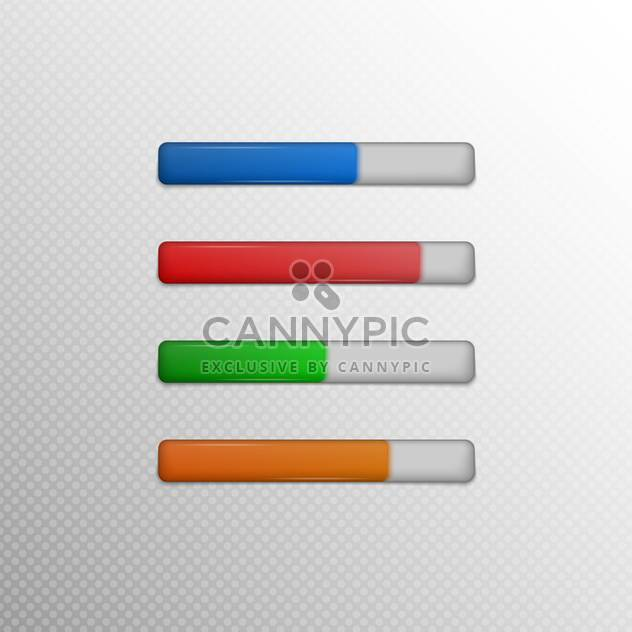 Vector colorful loading bars on grey background - Free vector #131673