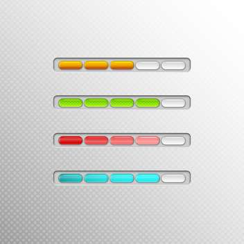 Vector loading bars on grey background - vector #131683 gratis