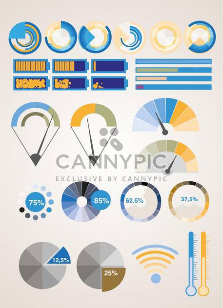 Vector infographic elements illustration - Free vector #131733