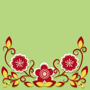 Greeting card with flowers vector illustration - vector gratuit #131743