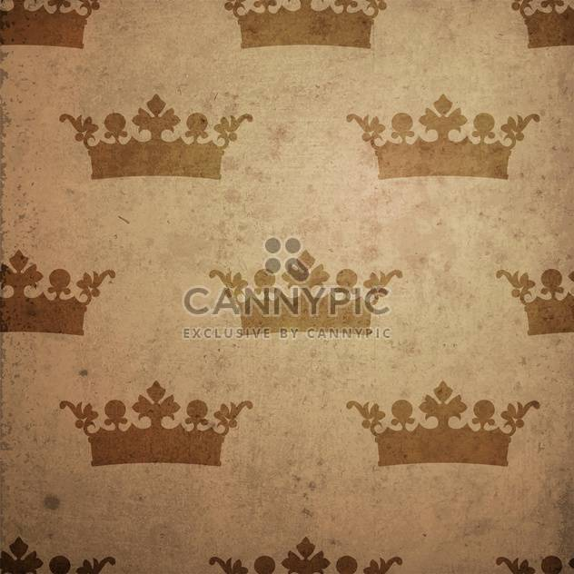 Vintage seamless background with crowns - Free vector #131783