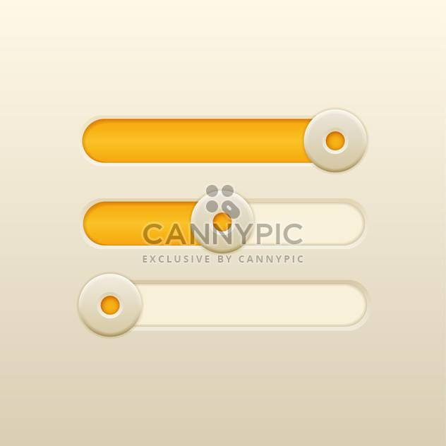 Vector yellow loading bars - Free vector #131803