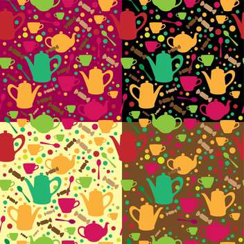 Vector background with different teapots - vector gratuit #131823