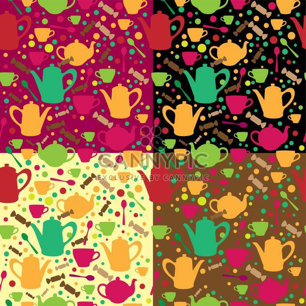 Vector background with different teapots - Kostenloses vector #131823