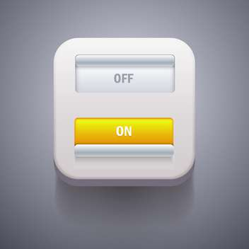 Toggle Switch On and Off position vector illustration - vector gratuit #132013