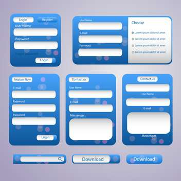 Login and register web screens vector illustration - vector gratuit #132053