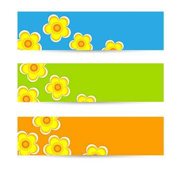 Set of vector floral backgrounds - Free vector #132063