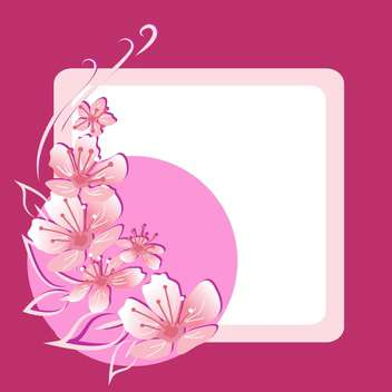 Vector floral frame on pink background - vector gratuit #132073