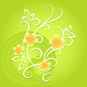 Green vector floral background - Free vector #132093