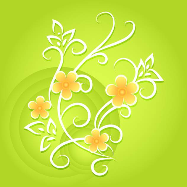 Green vector floral background - vector gratuit #132093
