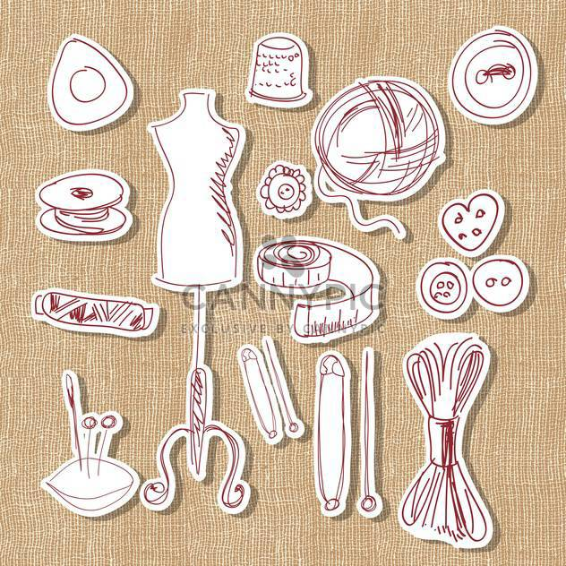 Designer, hand made and craft vector set - vector #132153 gratis