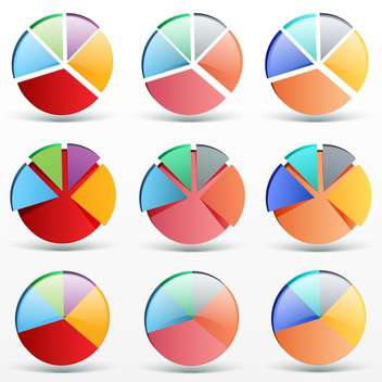 Colorful business graphs, vector Illustration - vector gratuit #132183