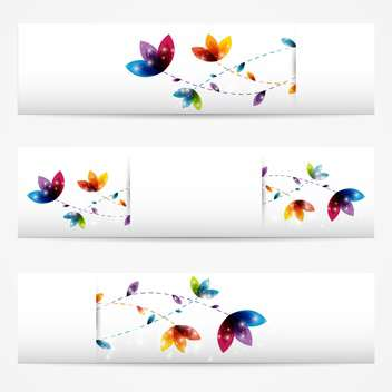 Vector set of abstract floral banners,vector illustration - vector gratuit #132253