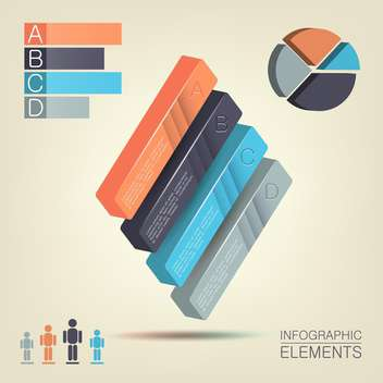 Steps process arrows - colored infographic elements ,vector illustration - Free vector #132273