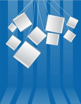 blue background with white cubes on the ropes ,vector background - Free vector #132283