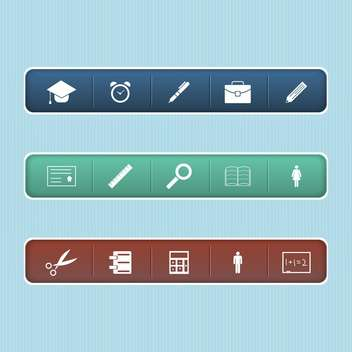 Vector web elements on blue background - vector #132313 gratis