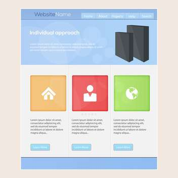Web site design template, vector illustration - vector gratuit #132323