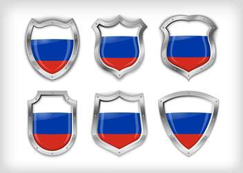 Different icons with Russian flags,vector illustration - vector gratuit #132373