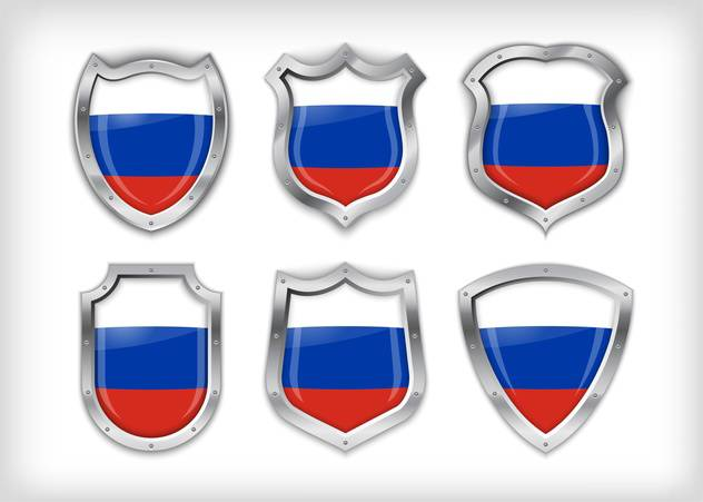 Different icons with Russian flags,vector illustration - бесплатный vector #132373