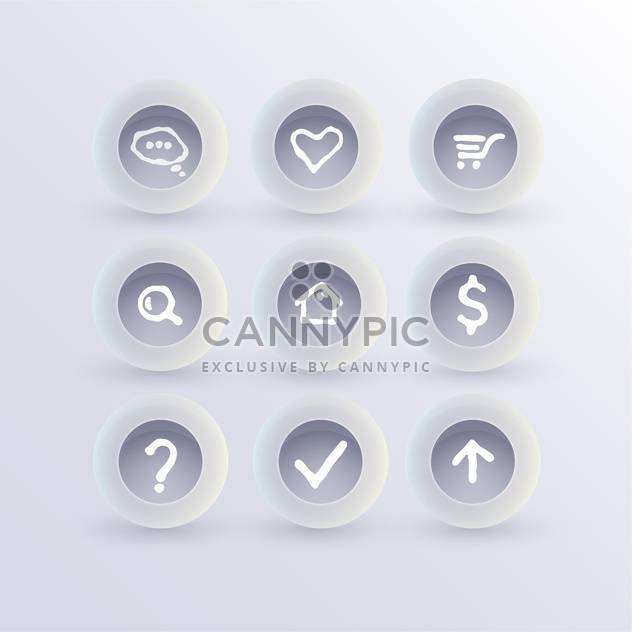 Set of communication icons,vector illustration - Free vector #132403