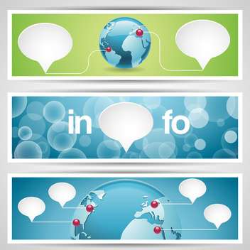 World globe, network icons,vector illustration - Kostenloses vector #132433