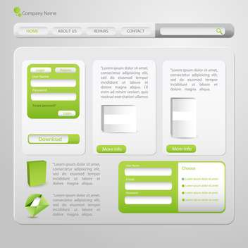 Web site design template, vector illustration - vector gratuit #132443