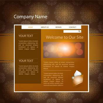 Brown web site design template vector background - бесплатный vector #132453