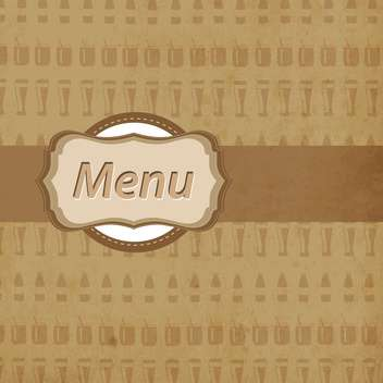 Vintage brown restaurant menu design - vector gratuit #132463