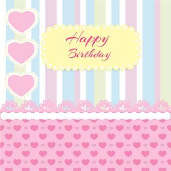 happy birthday scrapbook background - vector gratuit #132493