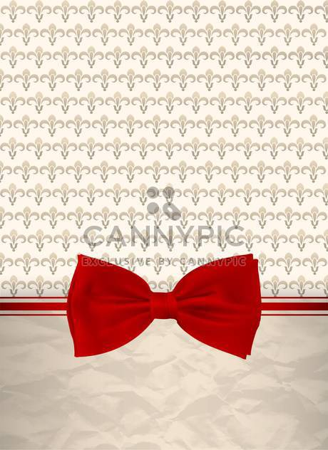 retro background with red bow - Free vector #132543