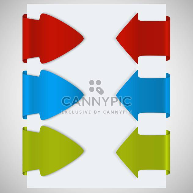 paper background with arrows illustration - Free vector #132623