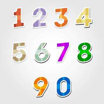 vector numbers set background - vector #132703 gratis