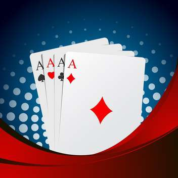 playing cards aces suits background - Free vector #132753