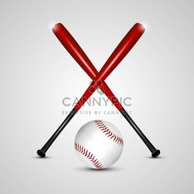 baseball bats and ball vector background - Free vector #132773