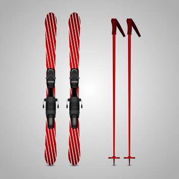 ski and sticks vector illustration - vector gratuit #132793