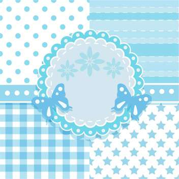 frame and seamless background patterns - vector gratuit #132813